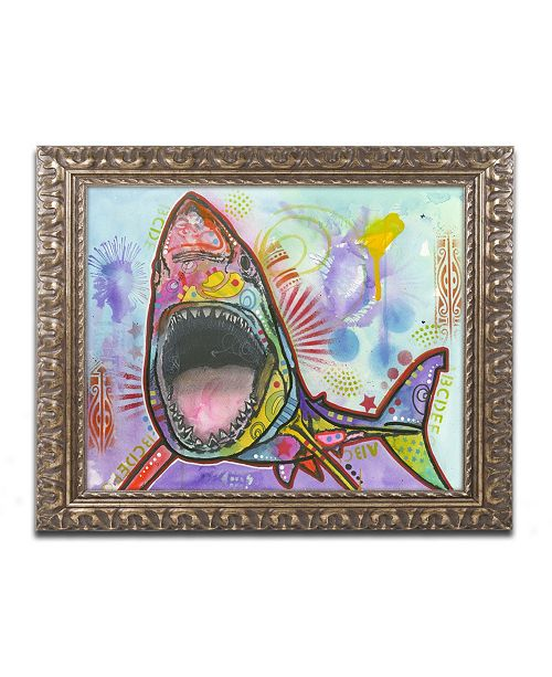 "Trademark Global Dean Russo 'Shark 1' Ornate Framed Art - 14"" x 11"" x 0.5"""