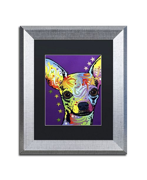 "Trademark Global Dean Russo 'Chihuahua II' Matted Framed Art - 14"" x 11"" x 0.5"""
