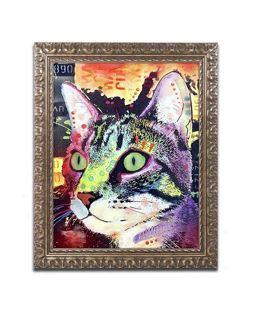 "Trademark Global Dean Russo 'Curiosity Cat' Ornate Framed Art - 14"" x 11"" x 0.5"""