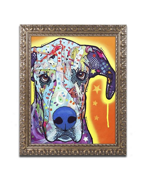 "Trademark Global Dean Russo 'Great Dane' Ornate Framed Art - 14"" x 11"" x 0.5"""