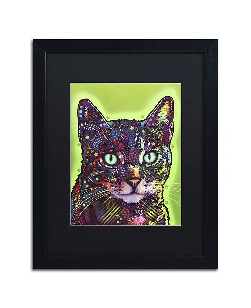 "Trademark Global Dean Russo 'Watchful Cat' Matted Framed Art - 16"" x 20"" x 0.5"""