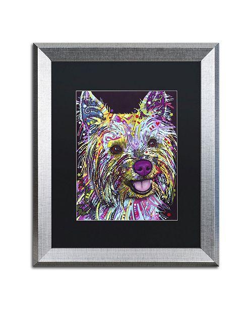 "Trademark Global Dean Russo 'Yorkie II' Matted Framed Art - 20"" x 16"" x 0.5"""
