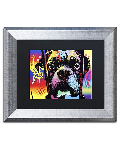 "Trademark Global Dean Russo 'Choose Adoption Boxer' Matted Framed Art - 14"" x 11"" x 0.5"""