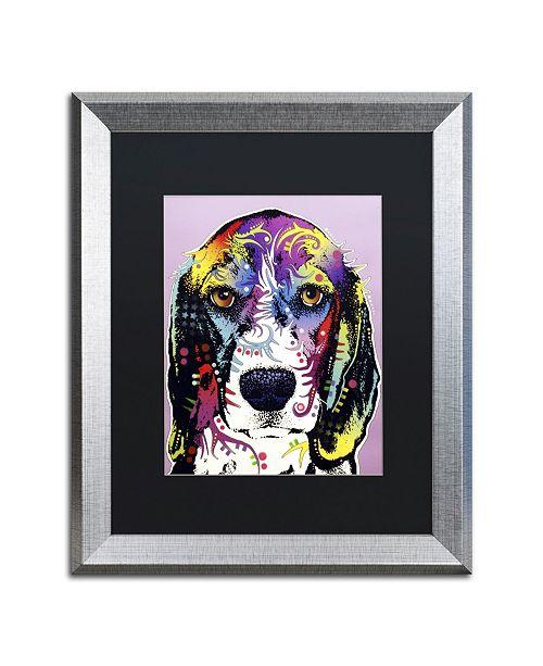 """Trademark Global Dean Russo '4 Beagle' Matted Framed Art - 20"""" x 16"""" x 0.5"""""""