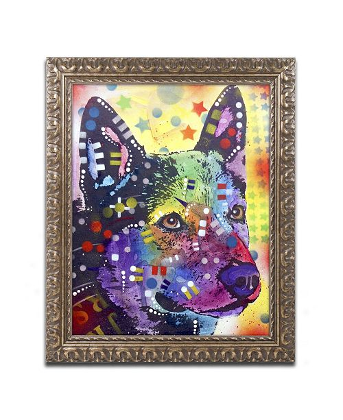"Trademark Global Dean Russo 'Aus Cattle Dog' Ornate Framed Art - 14"" x 11"" x 0.5"""