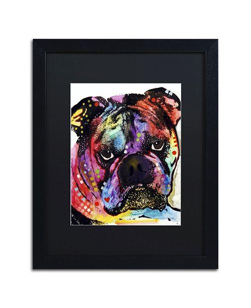 """Trademark Global Dean Russo 'Bulldog' Matted Framed Art - 16"""" x 20"""" x 0.5"""""""