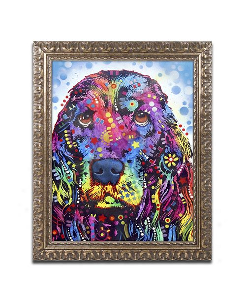 "Trademark Global Dean Russo 'Cocker Spaniel II' Ornate Framed Art - 14"" x 11"" x 0.5"""