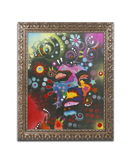 "Trademark Global Dean Russo 'Jimi Hendrix' Ornate Framed Art - 14"" x 11"" x 0.5"""