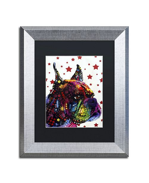 """Trademark Global Dean Russo 'Profile Boxer II' Matted Framed Art - 14"""" x 11"""" x 0.5"""""""