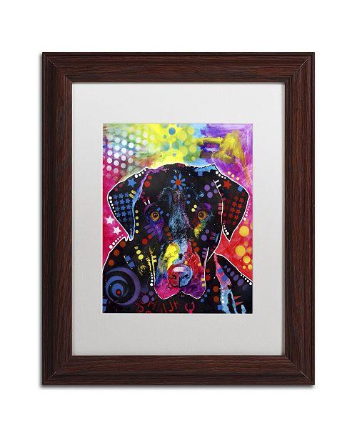 "Trademark Global Dean Russo 'The Labrador' Matted Framed Art - 14"" x 11"" x 0.5"""