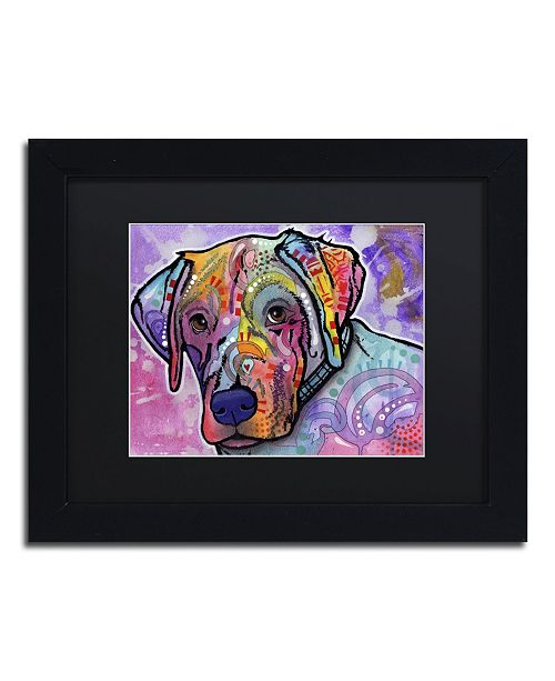 """Trademark Global Dean Russo 'Petunia' Matted Framed Art - 11"""" x 14"""" x 0.5"""""""