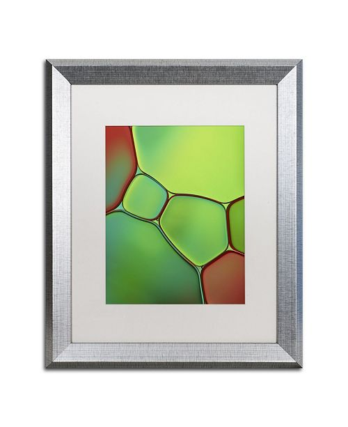 """Trademark Global Cora Niele 'Stained Glass IV' Matted Framed Art - 20"""" x 16"""" x 0.5"""""""