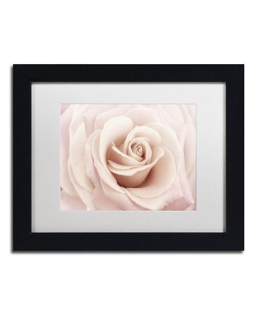 "Trademark Global Cora Niele 'Peach Pink Rose' Matted Framed Art - 11"" x 14"" x 0.5"""