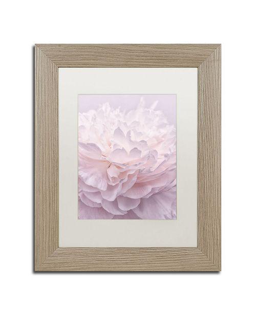 "Trademark Global Cora Niele 'Pink Peony Petals I' Matted Framed Art - 14"" x 11"" x 0.5"""