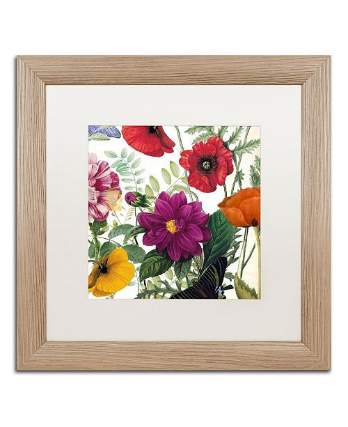 "Trademark Global Color Bakery 'Printemps III' Matted Framed Art - 16"" x 0.5"" x 16"""