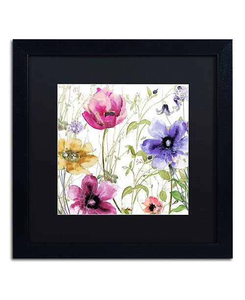 "Trademark Global Color Bakery 'Summer Diary I' Matted Framed Art - 16"" x 16"" x 0.5"""