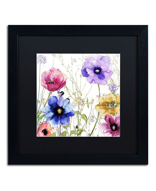 """Trademark Global Color Bakery 'Summer Diary II' Matted Framed Art - 16"""" x 16"""" x 0.5"""""""