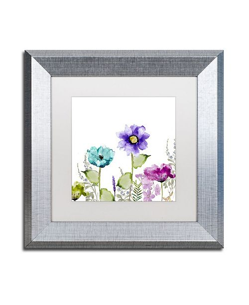 "Trademark Global Color Bakery 'Avril II' Matted Framed Art - 11"" x 0.5"" x 11"""