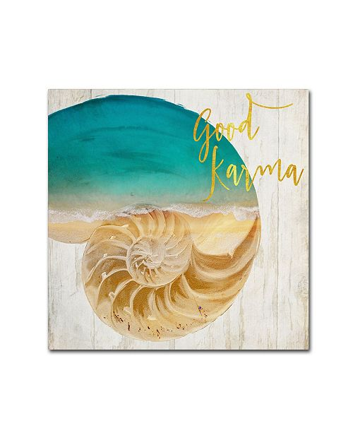 """Trademark Global Color Bakery 'Sea In My Hand' Canvas Art - 24"""" x 2"""" x 24"""""""
