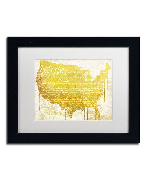 "Trademark Global Color Bakery 'American Dream II' Matted Framed Art - 14"" x 11"" x 0.5"""