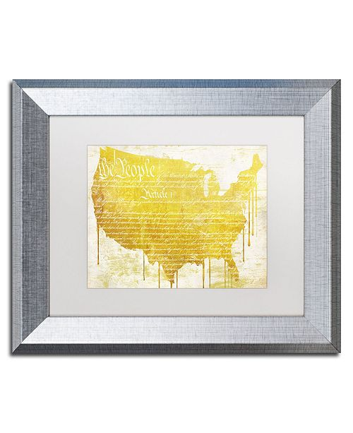 "Trademark Global Color Bakery 'American Dream II' Matted Framed Art - 14"" x 0.5"" x 11"""