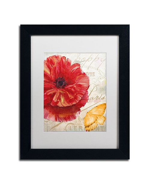 "Trademark Global Color Bakery 'Red Poppy' Matted Framed Art - 11"" x 14"" x 0.5"""