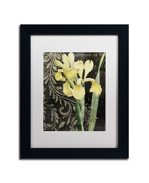 """Trademark Global Color Bakery 'Ode To Yellow' Matted Framed Art - 11"""" x 14"""" x 0.5"""""""