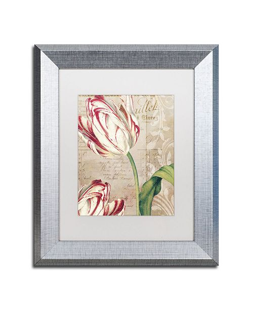 "Trademark Global Color Bakery 'Tulips' Matted Framed Art - 11"" x 0.5"" x 14"""