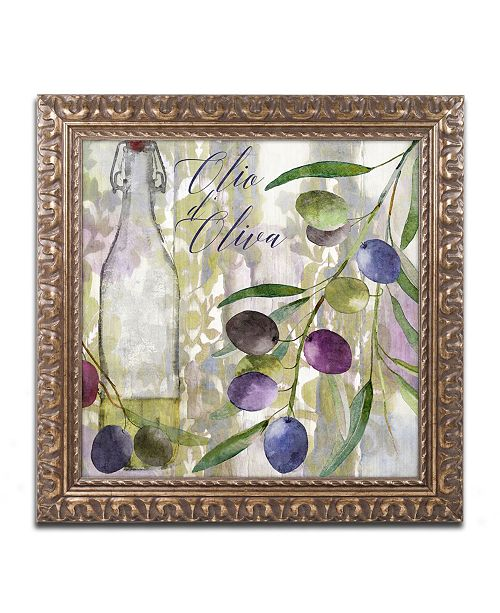 "Trademark Global Color Bakery 'Colors Of Tuscany I' Ornate Framed Art - 11"" x 0.5"" x 11"""