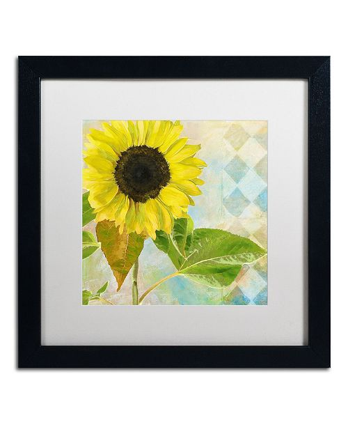 "Trademark Global Color Bakery 'Soleil III' Matted Framed Art - 16"" x 16"" x 0.5"""