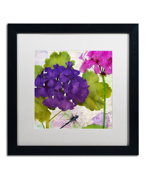 """Trademark Global Color Bakery 'Gaia I' Matted Framed Art - 16"""" x 16"""" x 0.5"""""""