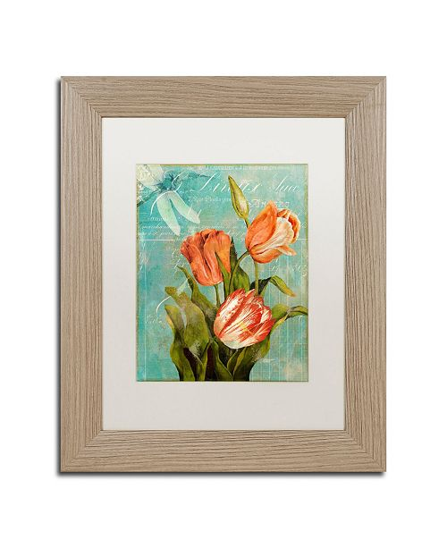 "Trademark Global Color Bakery 'Tulips Ablaze III' Matted Framed Art - 11"" x 0.5"" x 14"""