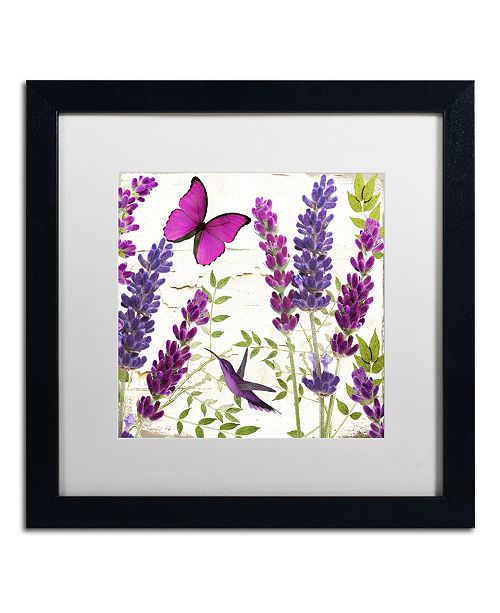 "Trademark Global Color Bakery 'Lavender II' Matted Framed Art - 16"" x 16"" x 0.5"""