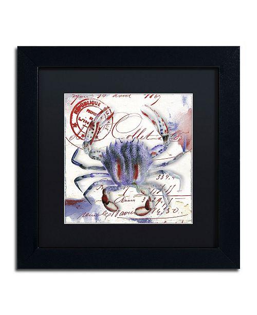 "Trademark Global Color Bakery 'Oceania II' Matted Framed Art - 11"" x 11"" x 0.5"""