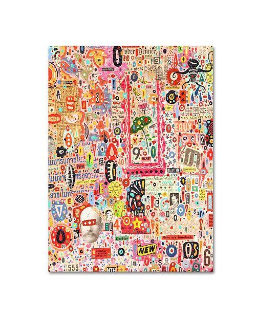 "Trademark Global Colin Johnson 'Human Refuse Detail' Canvas Art - 32"" x 24"" x 2"""