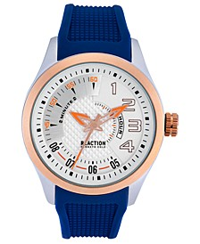 Men's Blue Silicone Strap Watch 47mm