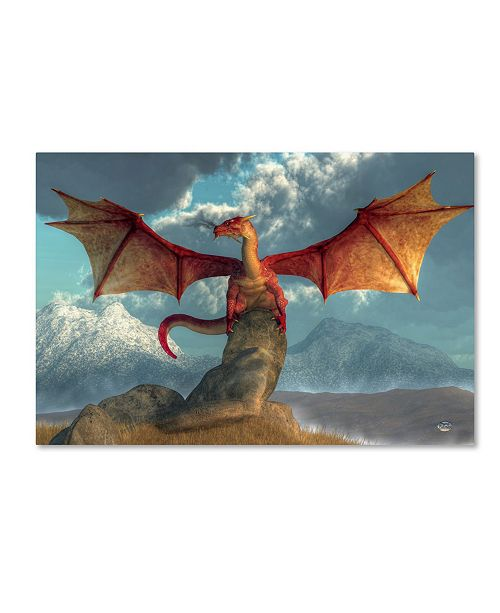 "Trademark Global Daniel Eskridge 'Fire Dragon' Canvas Art - 19"" x 12"" x 2"""