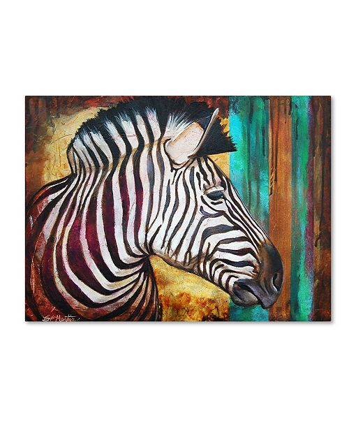"Trademark Global Corina St. Martin 'Zebra Stripes' Canvas Art - 19"" x 14"" x 2"""