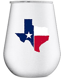 Thirstystone Stainless Steel Texas Stemless Wine Glass