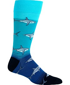 Hot Sox Men's Socks, Great White Sharks