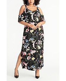 RACHEL Rachel Roy Plus Size Off The Shoulder Floral Maxi Dress