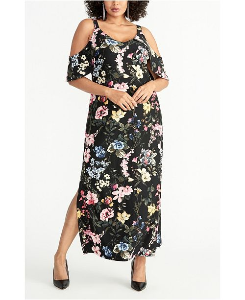 RACHEL Rachel Roy Plus Size Off The Shoulder Floral Maxi Dress ...