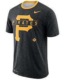 Nike Men's Pittsburgh Pirates Dry Slub Stripe Logo T-Shirt