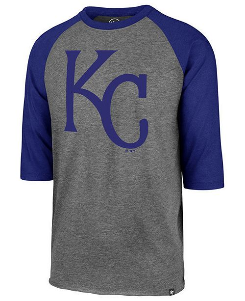 '47 Brand Men's Kansas City Royals Throwback Club Raglan T-Shirt
