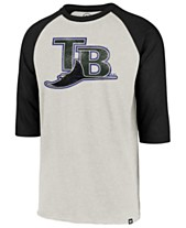 ad22ff6b '47 Brand Men's Tampa Bay Rays Coop Throwback Club Raglan T-Shirt. '