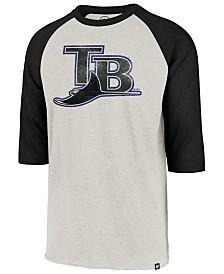 '47 Brand Men's Tampa Bay Rays Coop Throwback Club Raglan T-Shirt