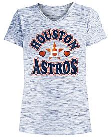 5th & Ocean Big Girls Houston Astros Spacedye T-Shirt