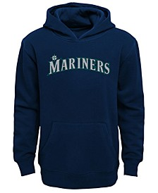 Little Boys Seattle Mariners Wordmark Pullover Fleece Hoodie