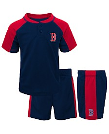 Outerstuff Baby Boston Red Sox Infant Play Strong Short Set