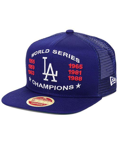 New Era Los Angeles Dodgers Team Front Trucker 9fifty Snapback Cap Reviews Sports Fan Shop By Lids Men Macy S